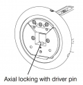 Axial Locking of Winding Shaft