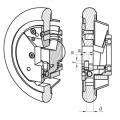 Dimensiones del Eje Enrollador en el Mandril Deslizante